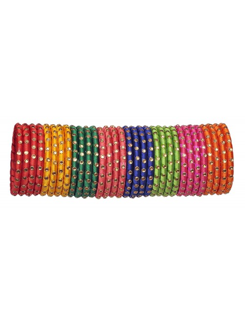 Glossy Silk Thread Bangles For Women By New Make in India