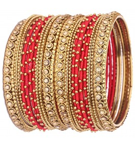 Designer Royal Silk Thread Bangle for Women By New Make In India