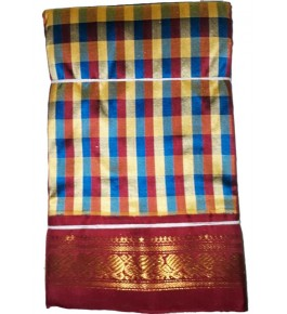 Handloom Molakalmuru Pure Silk Multicolor Saree For Women