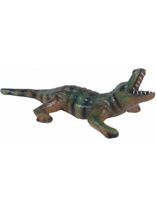 Genuine Leather Animal Crocodile Toy By Rainbow Art Center