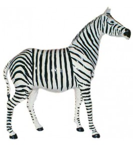 Genuine Leather Animal Zebra Toy By Rainbow Art Center