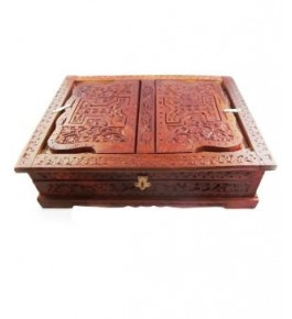 Wooden Hand Carved Rehal Holy Books Stand Box By Wood Beauty Handicrafts