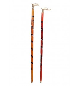 Saharanpur Wood Craft Wooden Walking Stick By Wood Beauty Handicrafts