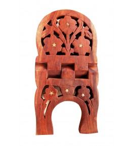 Wooden Hand Carved Rehal Holy Books Stand By Wood Beauty Handicrafts