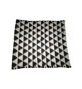 Agra Durrie Hand Tufted Durable Quality Woolen & Cotton Durrie (4 X 4 Ft) For Home By G. S. Rugs