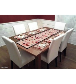 Beautiful Light Pink Table Runner (7 pcs) For Home Decor By Bedi's Creation