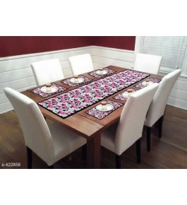 Beautiful Floral Printed Table Runner (7 pcs) For Home Decor By Bedi's Creation