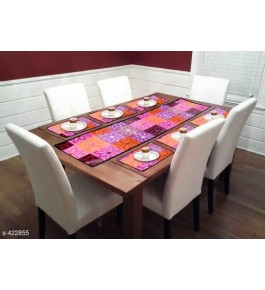 Beautiful Multicolor Floral Printed Table Runner (7 pcs) For Home Decor By Bedi's Creation