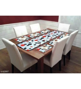 Beautiful Multicolor Printed Table Runner (7 pcs) For Home Decor By Bedi's Creation