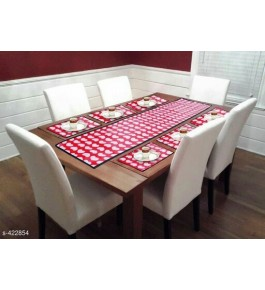 Beautiful Pink Table Runner (7 pcs) For Home Decor By Bedi's Creation