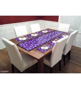 Beautiful Purple Table Runner (7 pcs) For Home Decor By Bedi's Creation