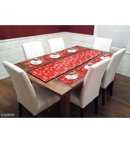 Beautiful RedTable Runner (7 pcs) For Home Decor By Bedi's Creation