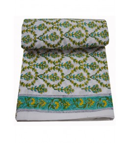 Bagru Hand Block Printed Cotton Fabric 50 Meter (Dress Material) By Vikas Enterprises