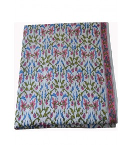 Bagru Hand Block Printed Cotton Fabric 5 Meter By Vikas Enterprises